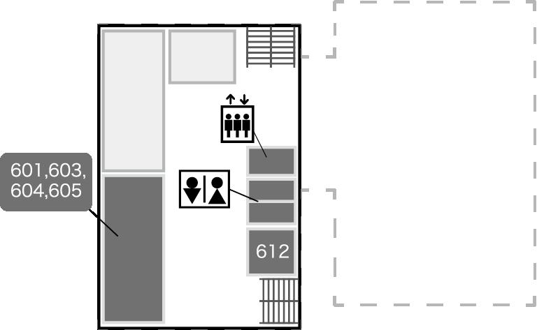 西2,3号館6階
